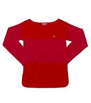 红色船形领衫恤