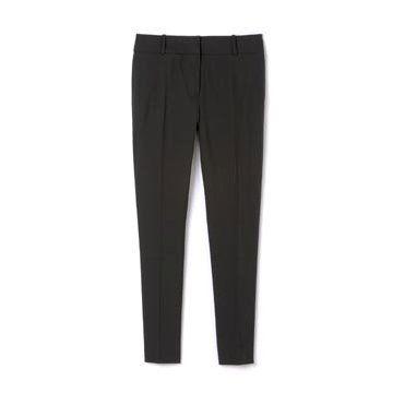 黑色丝绵长裤