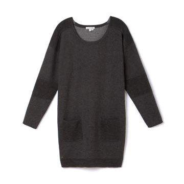 灰色羊毛针织衫