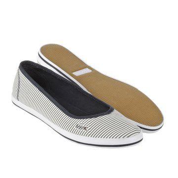 FOOTWEAR MARTHE系列海军帆布款平底鞋