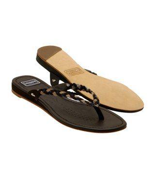 深棕色编带拖鞋