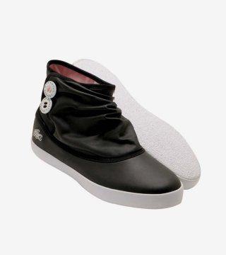 黑色低筒帆布靴