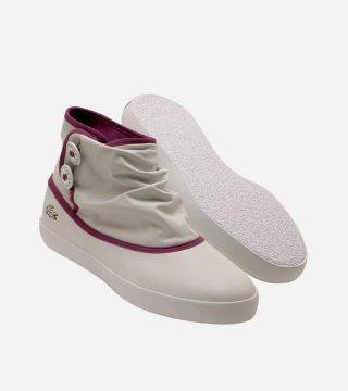 白色低筒帆布靴