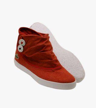 红色低筒帆布靴