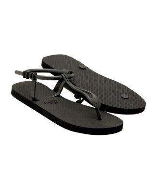 Lemara黑色橡胶凉鞋