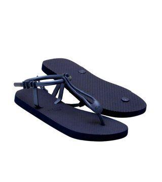 Lemara深蓝色橡胶凉鞋