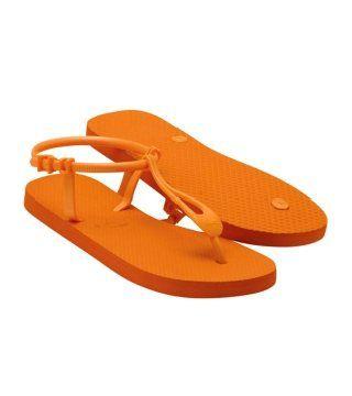 Lemara橙色橡胶凉鞋