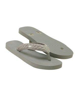 Vencia灰色夹脚拖鞋