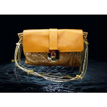 2011新款棕色水牛皮及蛇皮女士手袋挎包