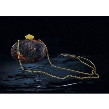 2011新款多彩水晶搭配金属长链女士手包晚宴包晚装包手拿包