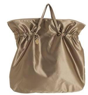 青铜色绸缎购物包