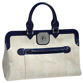 Gatsby拼色旋扣手提包