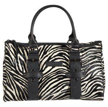 凯特莫斯设计斑马纹枕型手提包