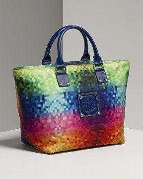 彩点印花手提袋