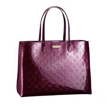 2011春夏新款Wilshire GM狂野红色漆皮女士大号手袋公文包