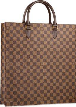 Damier帆布系列Sca plat购物袋
