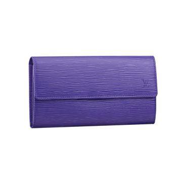紫色皮革手包