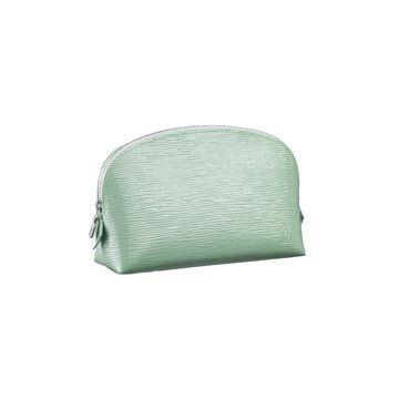青色皮革钱包