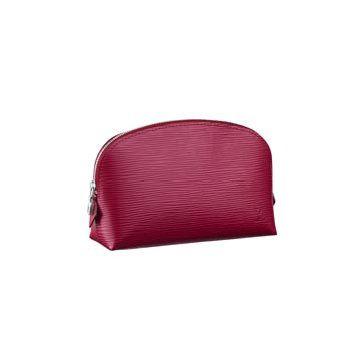 玫红色皮革钱包