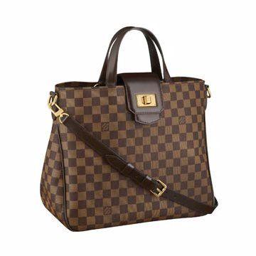 咖色格纹手提包