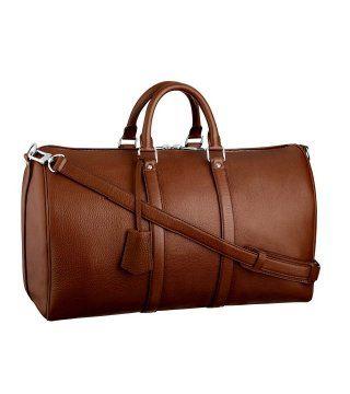 雪松色Keepall 45配肩带旅行袋
