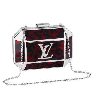 红色宝盒细链条晚装包