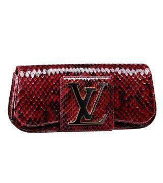 2011红色蟒纹手拿包