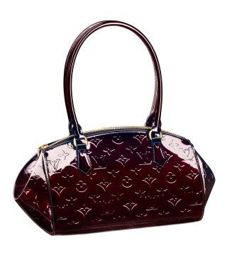 2011款Monogram Vernis紫红色手提包