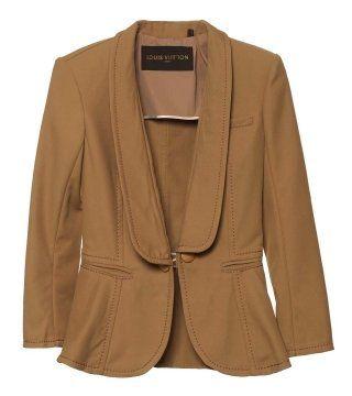 混纺棉质西装式外套