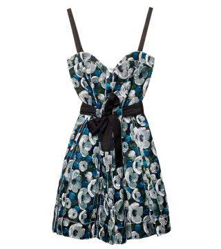 印花丝质硬纱芭蕾舞裙