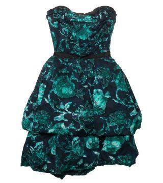 丝绵混纺抹胸式连身裙