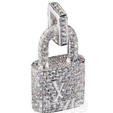 锁形钻石吊坠