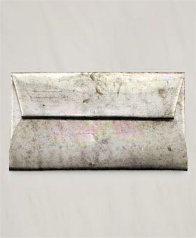金属色信封手包
