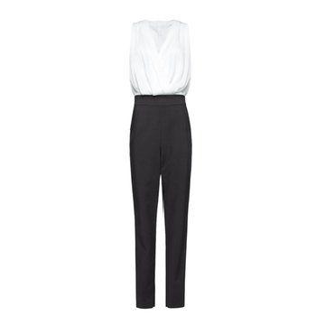 黑白无袖连体裤