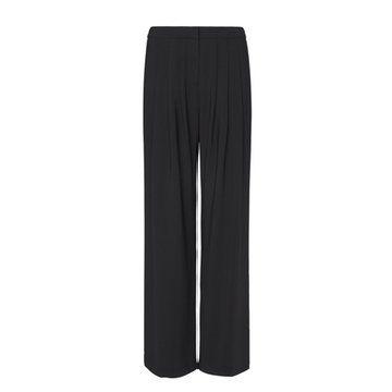 黑色直筒长裤