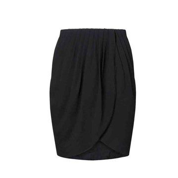 黑色百褶半裙