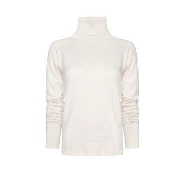 白色针织高领衫