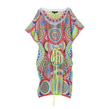 荧光彩色连衣裙
