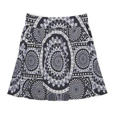 黑白印花短裙