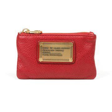 红色牛皮钱包