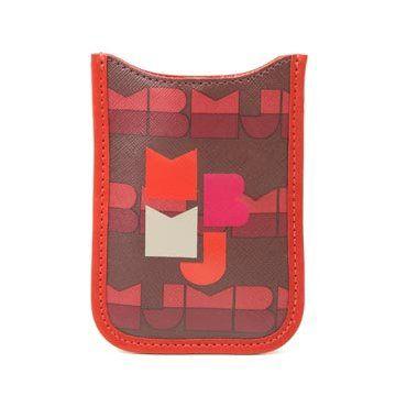 红棕色字母印花iPhone套