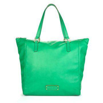 绿色皮质手拎包