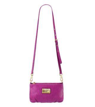 CLASSIC Q系列PERCY紫红色斜肩包