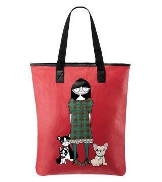MISS MARC PACKABLES系列SHOPPER红色购物袋