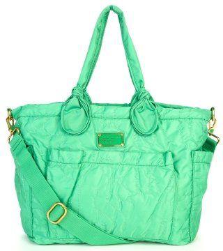 绿色尼龙肩背手提两用包