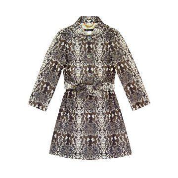 灰色蛇皮纹理连身裙