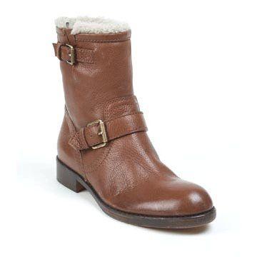 棕色小牛皮短靴