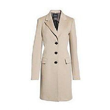 裸色呢子大衣