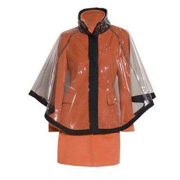 橘红防水大衣
