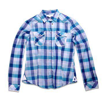 蓝色格纹衬衫